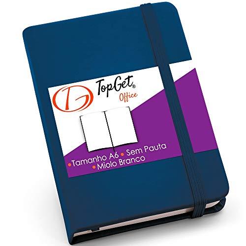 Caderneta de Anotações 9x14cm 80 Folhas Sem Pauta Azul
