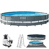 INTEX kit piscine Ultra frame ronde tubulaire 6m10 x 1m22