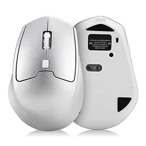 4.0 + 2.4G Durable Wireless Mouse, PC Mouse Dual-Mode for Computer PC(Silver)