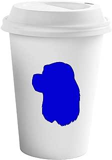 Style In Print Royal Blue American Cocker Spaniel Silhouette Ceramic Coffee Tumbler Travel Mug
