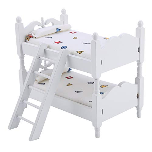 SunshineFace 1:12 Poppenhuis Mini Meubels Kinderen Slaapkamer Model Stapelbed Speelgoed Cadeau