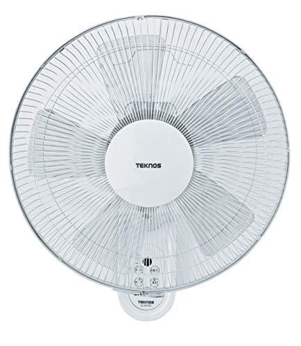 TEKNOS 壁掛け扇風機 フルリモコン 40cm 5枚羽根 風量3段切替 首振り 角度調節 タイマー リズム風 サーキュレーター 扇風機 (ホワイト, 2個セット)