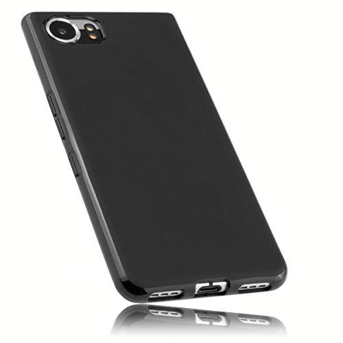 mumbi Hülle kompatibel mit BlackBerry KEYone Handy Hülle Handyhülle, schwarz