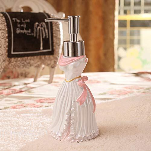 Dispensador de jabón y loción creativo dos-en-uno dispensador de jabón de cerámica suministros de baño nuevos productos de boda mano desinfectante botella loción jabón caja