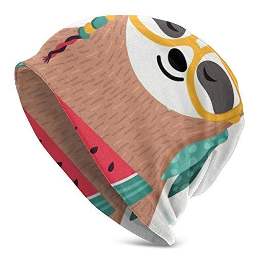 Lawenp Sloth Watermelon 28793446 Gorro de Invierno de Punto cálido Gorro Holgado de esquí Elástico Suave Duradero