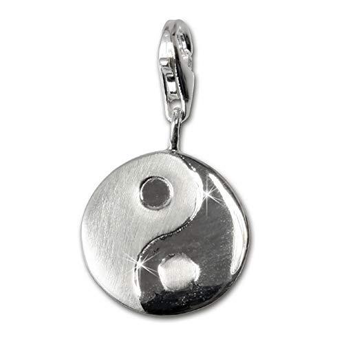 Sueño de plata{925} de ley Yin Yang Colgante Charm para pulsera cadena pendientes FC3107