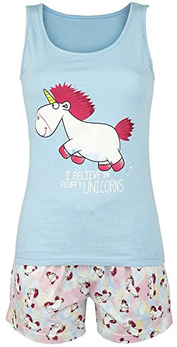 Minions Unicorn Pyjama hellblau/allover XS