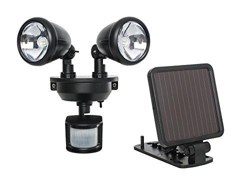 Maxsa Innovations 44215 Solar Motion Activated Dual Head Light in Black