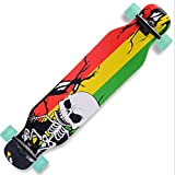 Skateboard da 42 pollici Brush Street Longboard Road Skateboard, 9 strati di acero sostitutivo Quad...