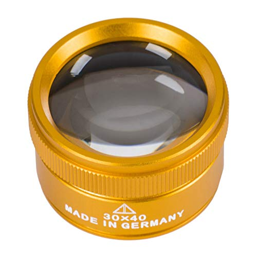 Nicoone Lupa 30X, lupa de cristal óptico K9, lupa de joyería de alta definición, para personas mayores, joyeros profesionales, relojeros, oro
