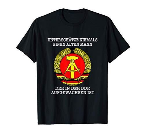 Herren Ossi - Unterschätze niemals einen Alten Mann der in der DDR T-Shirt