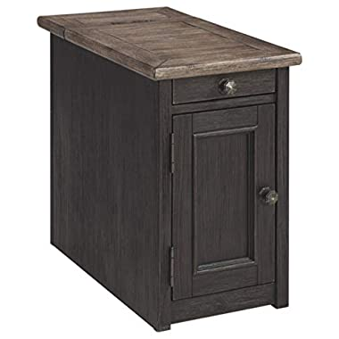 Signature Design by Ashley Tyler Creek Chair Side End Table Grayish Brown/Black