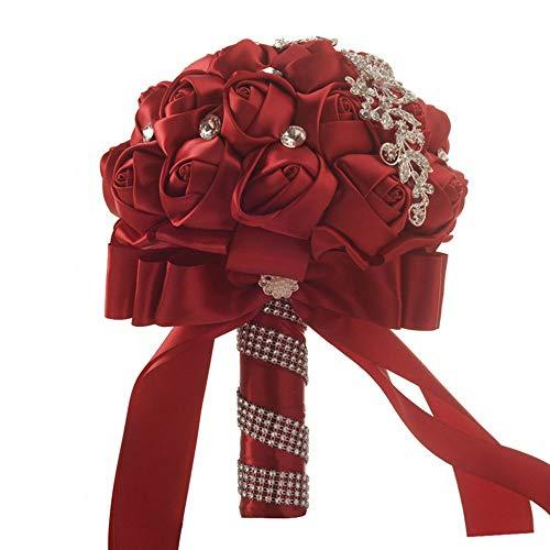 DANJIA Cinta de perlas de 17 x 24 cm para bodas, novias, damas de honor, simulación de flores y niñas.