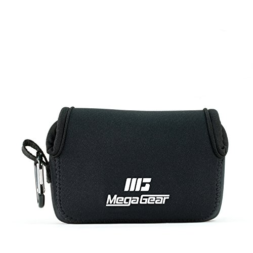 MegaGear MG1245 Canon PowerShot SX740 HS, SX730 HS, SX720 HS, SX710 HS, G16, G15 Ultraleichter Neopren Kameratasche - Schwarz