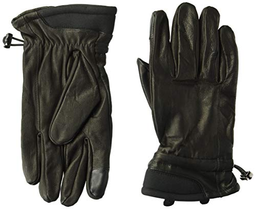 Kenneth Cole REACTION Men's 100% Leather Winter Gloves, Black, Large