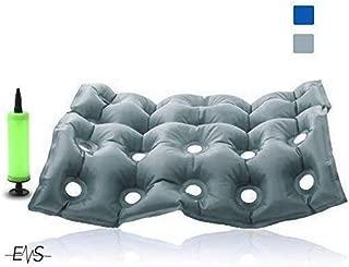Premium Air Inflatable Seat Cushion - Comfortable Chair Cushion for Wheel Chair - Ideal for Prolonged Sitting - Ideal Seat Cushion for Daily Use .FDA Approved (Gray)
