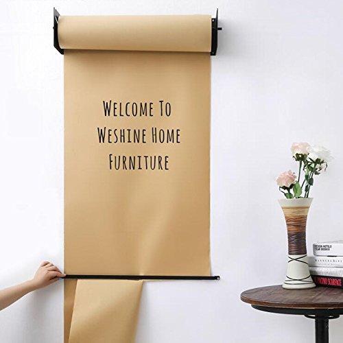 weshine Gadgets montado en la pared papel Kraft rollo de papel Holder Dispensador de papel para oficina casa y café tienda