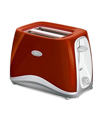 Oster 6544Rd-053 - Tostadora de 2 rebanadas, color rojo (220 V, no apta para EE. UU.)