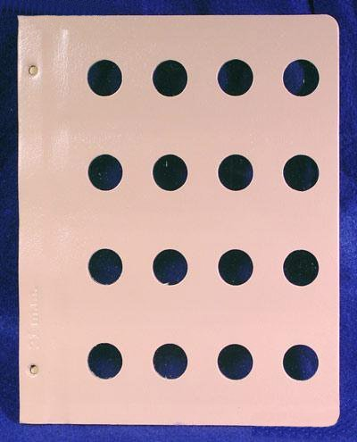 Dansco Blank Album Page for 21mm Coins