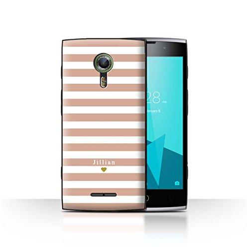 Stuff4Phone Case/Cover/Skin/alcf2/Custom Stripes/Striped Collection Coeur Rose Nu