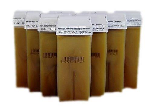 10 Wachspatronen 100 ml Gold für Körperenthaarung von Mann und Frau