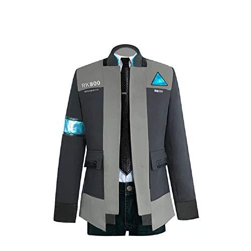 Joyfunny Become Human Connor Jacket Halloween Cosplay Costume Coat Uniform Suit M