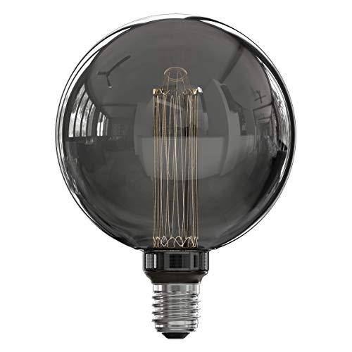 Calex Bombilla LED de fibra de vidrio G125, 220-240 V, 3,5 W, 40 lm, 2000 K, titanio, E27, regulable, talla única