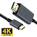 Cable USB C a HDMI, tipo C a HDMI, cable HDMI, 4 K a 60 Hz, 4 K UHD 1,8 m para Pad Pro 2019,/2018/2017 MacBook Pro Huawei Mate20