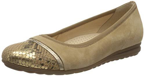 Gabor Shoes 42-622-57, Ballerines Femme, Beige (Caramel 35), 38 EU