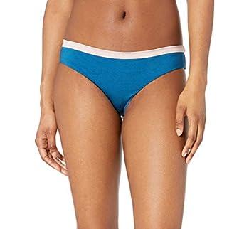 Body Glove Women s Audrey Low Rise Bikini Bottom Swimsuit Stamina Shiny Prussian Large