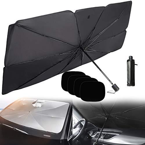 Paquete Premium de Parasol Reflectante para Parabrisas Delantero, Sedán, Accesorios de Protector de Parasol,79 * 145cm+side baffle*4