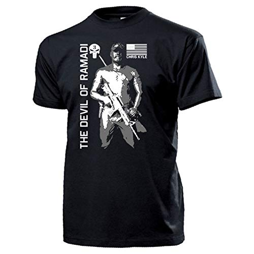 The Devil of Ramadi CPO American Sniper Scharfschütze T Shirt #15938, Größe:XL, Farbe:Schwarz