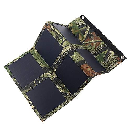 Bangxiu Leichtgewicht Solarpanel Tragbares 25W 5V Faltbare Sonnenkollektor-Ladegerät Solarstrom-Ladegerät Dual USB Tarnung Rucksack wandernd kampiert (Farbe : Mehrfarbig, Größe : 25W)