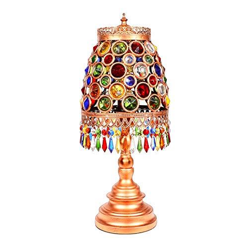 Zenghh Globos de Turquía Mosaico marroquí Mesa de luz, Bohemia Boho mosaico...