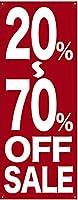 バナー 20~70% OFF SALE ポンジ No.69684 (受注生産)