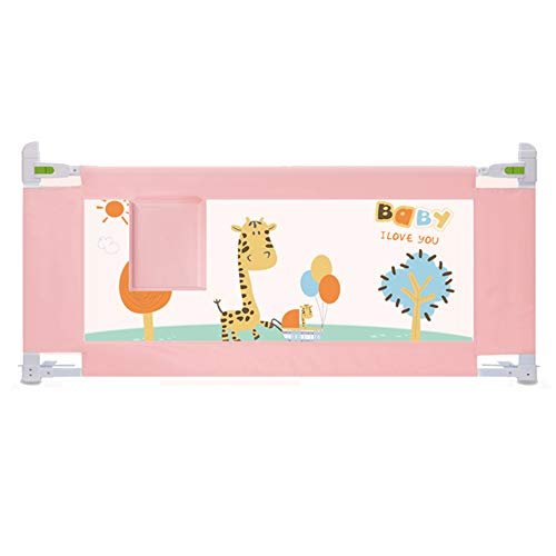 Barrières de lit LHA Garde-Corps Vertical portatif de lit de Levage de Garde-Corps de Berceau approprié aux Enfants 150,180,200 * 85 cm (Couleur : Pink, Taille : L-200cm)