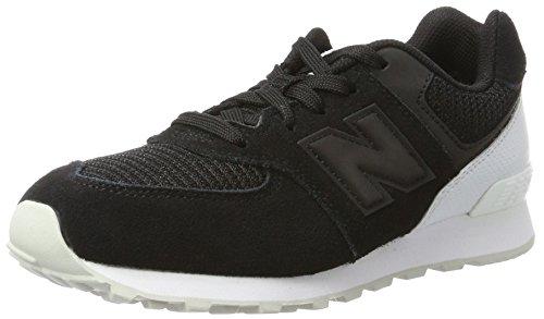 New Balance New Balance KL574, Unisex-Kinder Sneaker, Silber - schwarz/weiß - Größe: 39 1/3 EU