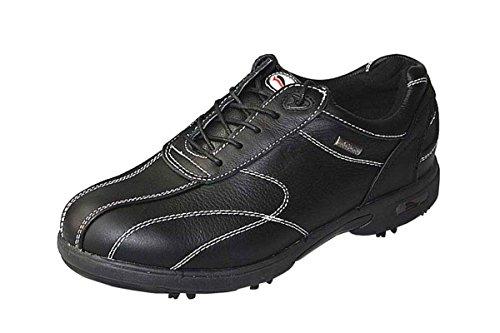 CrivitSports Damen Golfschuhe - hochwertiges Napaleder - (38, Schwarz)