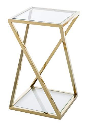Mesas Auxiliares De Cristal Dorada mesas auxiliares de cristal  Marca PEÑA VARGAS
