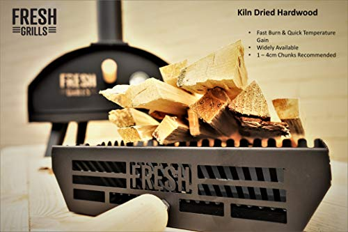 Fresh Grills Steel Outdoor Pizza Oven – Portable Wood Fired BBQ Pizza Maker Inc Raincover, Pizza Stone, Pizza Slice…