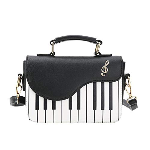 Leuke Piano Patroon Mode Pu Lederen Casual Dames Handtas Schoudertas Crossbody Messenger Bag