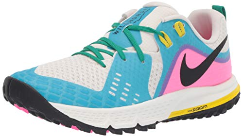 Nike Air Zoom Wildhorse 5 Women's Running Shoe LT Orewood BRN/Black-Blue Fury 9.0