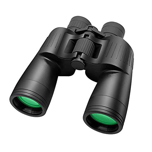 10X50 Binoculars for Adults - Powerful HD Binoculars Easy Focus Waterproof Fogproof-BAK4 Prism FMC Lens-with Case and Strap for Bird Watching Hunting Wildlife and Concert