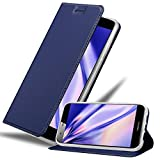 Cadorabo Funda Libro para Huawei G7 Plus / G8 / GX8 en Classy Azul Oscuro - Cubierta Proteccíon con Cierre Magnético, Tarjetero y Función de Suporte - Etui Case Cover Carcasa