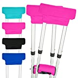 Vive Crutch Pads - Padding for Walking Arm Crutches - Universal Underarm Padded Forearm Handle Pillow Covers for Hand Grips - Soft Foam Armpit Bariatric Accessories for Adults, Kids (1 Pink Pair) crutches Apr, 2021