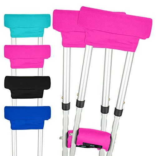 Vive - Almohadillas para muletas, color rosa