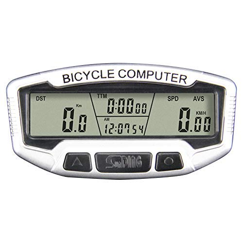 MLYWD Fietscomputer, draadloze snelheidsmeter, draadloos, waterdicht, lichtgewicht grootbeeld-fietscomputer, draadloze lcd-snelheidsmeter, kilometerteller, snelheid