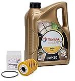 Pack motores 1.5Hdi Peugeot aceite motor Total Quartz Ineo 0w30 5 lts + filtro aceite Original 1624797780