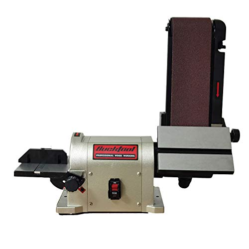 BUCKTOOL Belt Disc Sander 4 in x 36 in Belt and 6 in Disc Sander with 3/4HP Direct-drive Motor and Portable Al Base, BD4603 Upgraded Model
