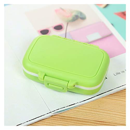 Dzwyc 1 PC portátil Mini píldora Caja de la Medicina Cajas Organizador de Viajes píldora Casos Home Medicamentos médicos Tablet Herramienta del Cuidado médico de contenedores (Color : Green)
